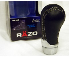 Shift Knob RAZO RA103 Leather Shift Knob Black shiftknob 85g JDM 8mm, 10mm, 12mm