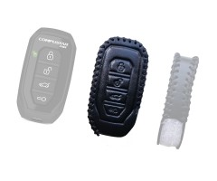 Leather Case for Compustar G15, 1Way Remote leather case