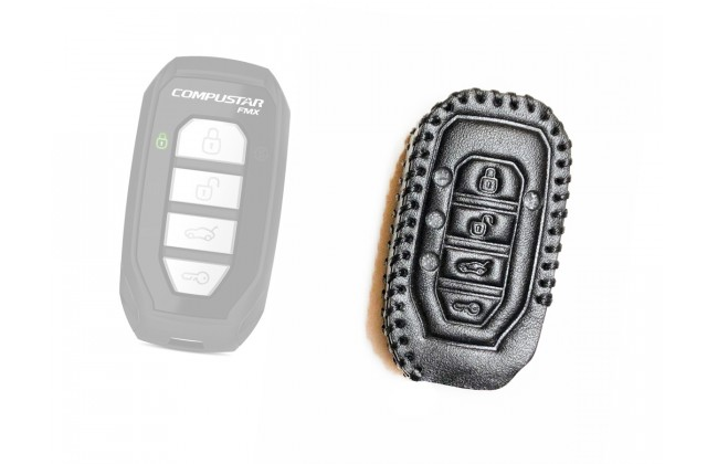 Leather Case for Compustar G15, 2Way Remote leather case
