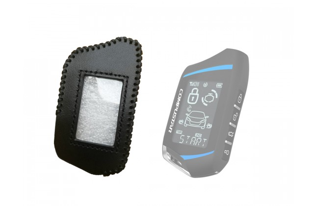Leather Case for Compustar T9, 2 Way Remote leather case