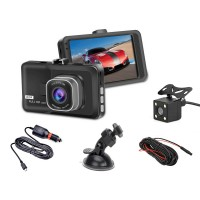 "Dash Cam 1080P HD Recorder Dual DVR Car Camera 3"" screen"