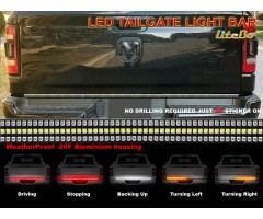 "Tailgate Light Bar with Running, Brake, Reverse, Sequential Turn Signals 60"" LED"