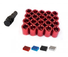 Wheel Nuts Tuner Lug Nut Set with Key, Open End 20pcs